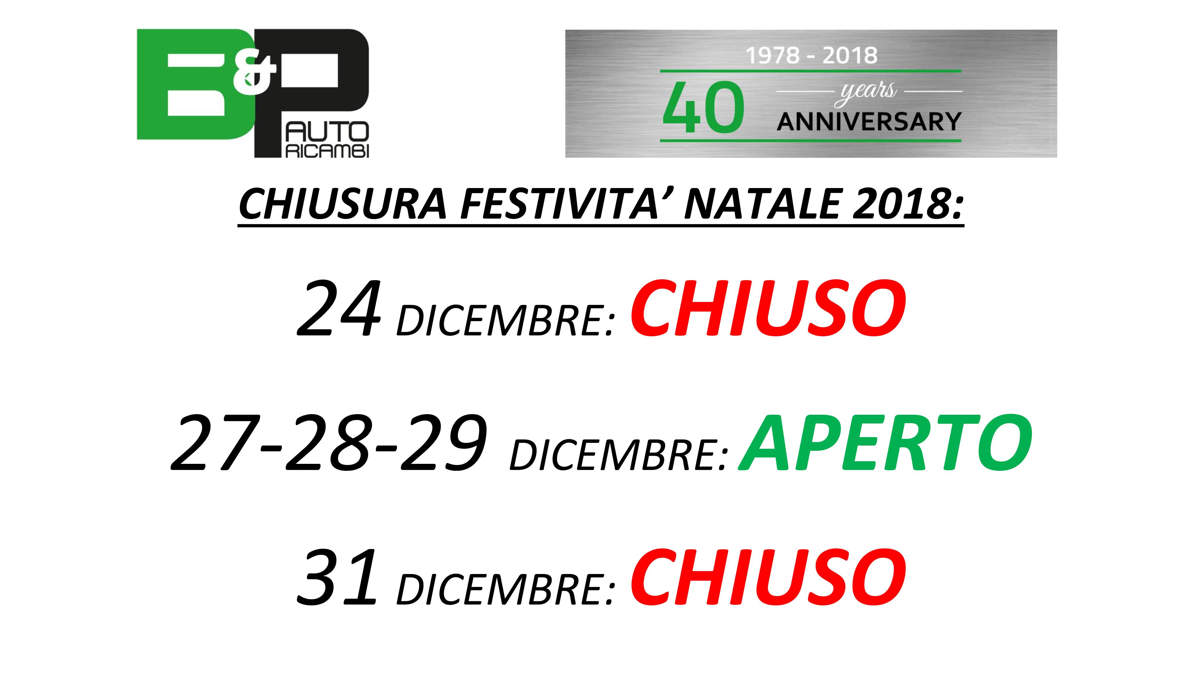 FESTIVITA' NATALE 2018